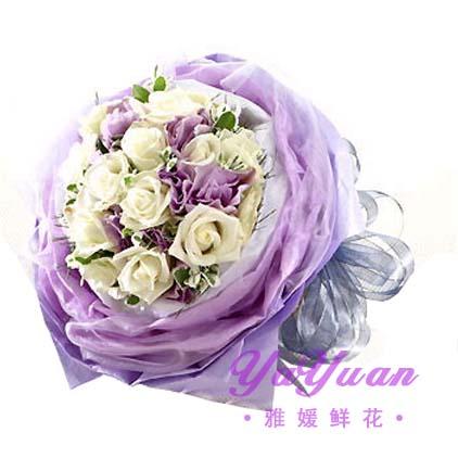 包 装:   淡紫色轻纱外围,烟灰色精美蝴蝶结圆形花束包扎 市场价: ¥